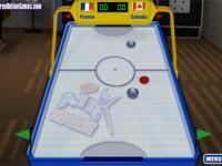 Air hockey sur table