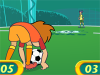 Jeu de foot en salle